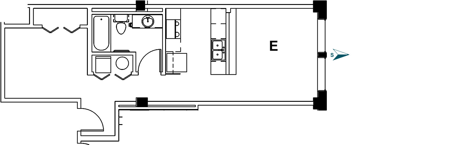 Palace Apt 2E Floor Plan