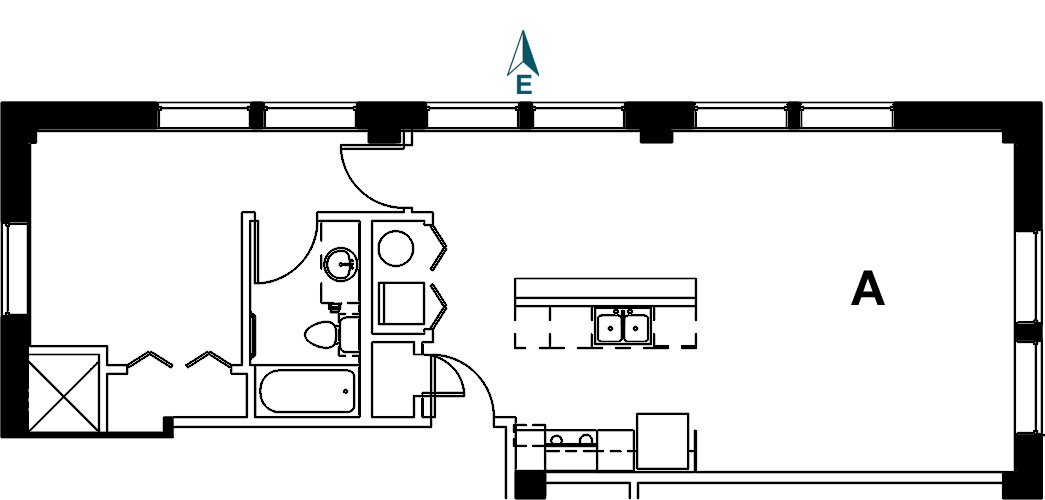 Palace Apt 9A Floor Plan
