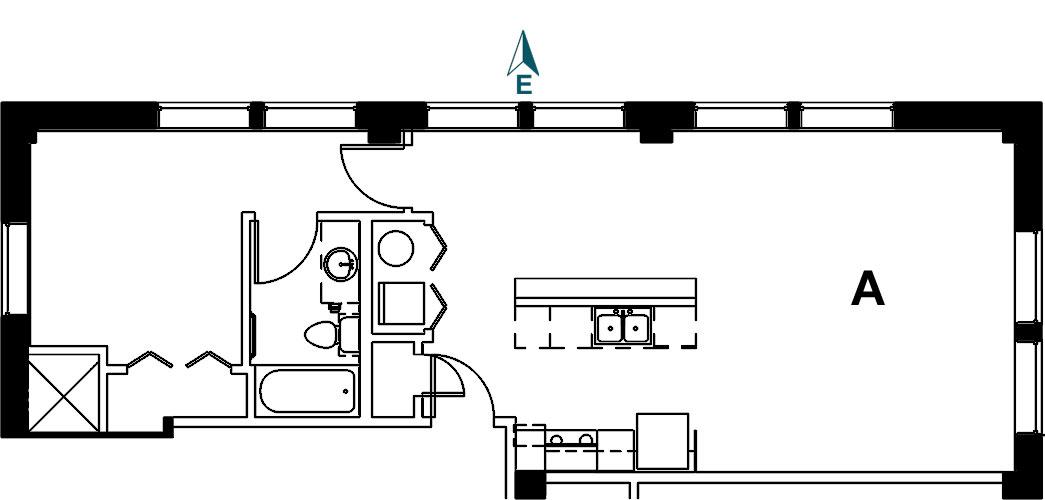 Palace Apt 9A Floor Plan